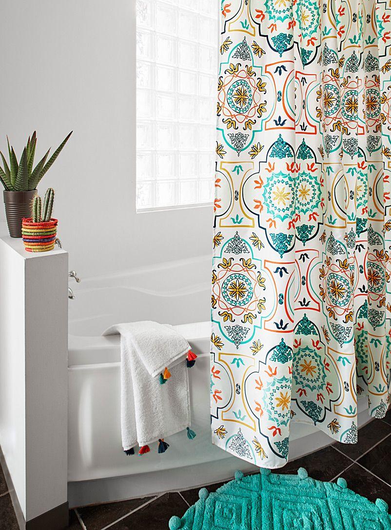 Moroccan palace mosaic shower curtain moroccan mosaics and apartments