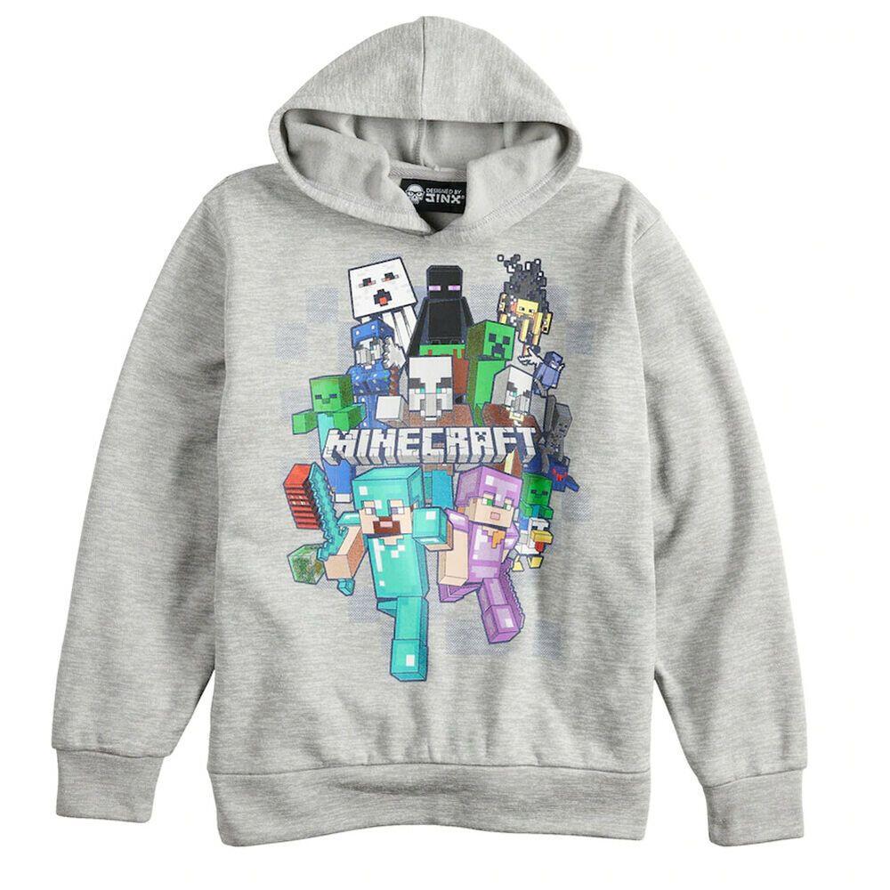 Jinx minecraft hoodie sweatshirt pullover hoodie gray boy