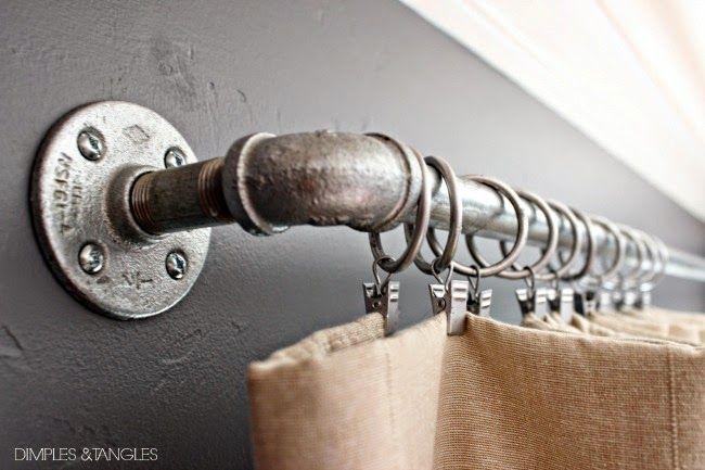 Customizing Ikea Curtains And A Diy Industrial Curtain Rod Diy