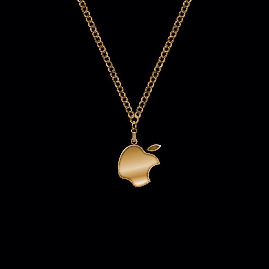Appleゴールドネックレス