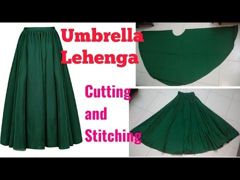 06bed216b6 Umbrella lehenga cutting and stitching in hindi (easy method) अम्ब्रेला .