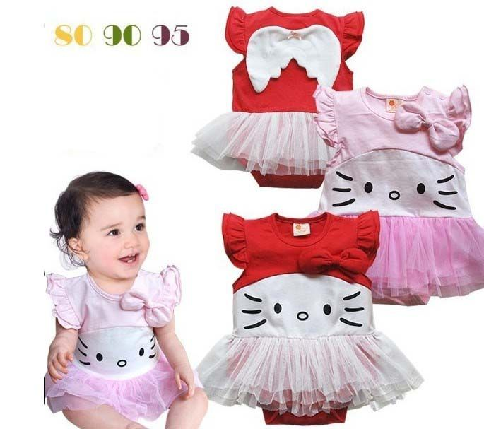 198c389c018e01924da6d19b44cd4e35 romper bayi perempuan kitty pink dan merah usia 6 9 12 18bulan,Pakaian Bayi 6 Bln