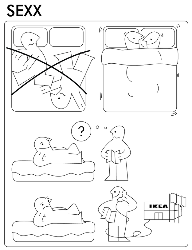 198c393acf430b30d83a8b61de0568ac funny ikea instructions showing the dos and don'ts of handling,Ikea Instructions Meme