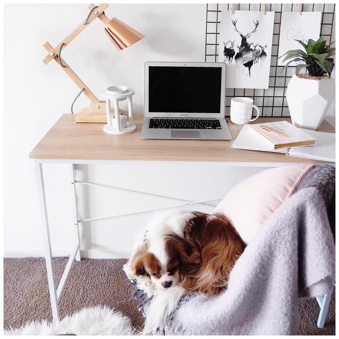 Kmart Scandi Desk And Accessories Via Leerachel Instagram Scandi Desks Office Space Decor Kmart Decor