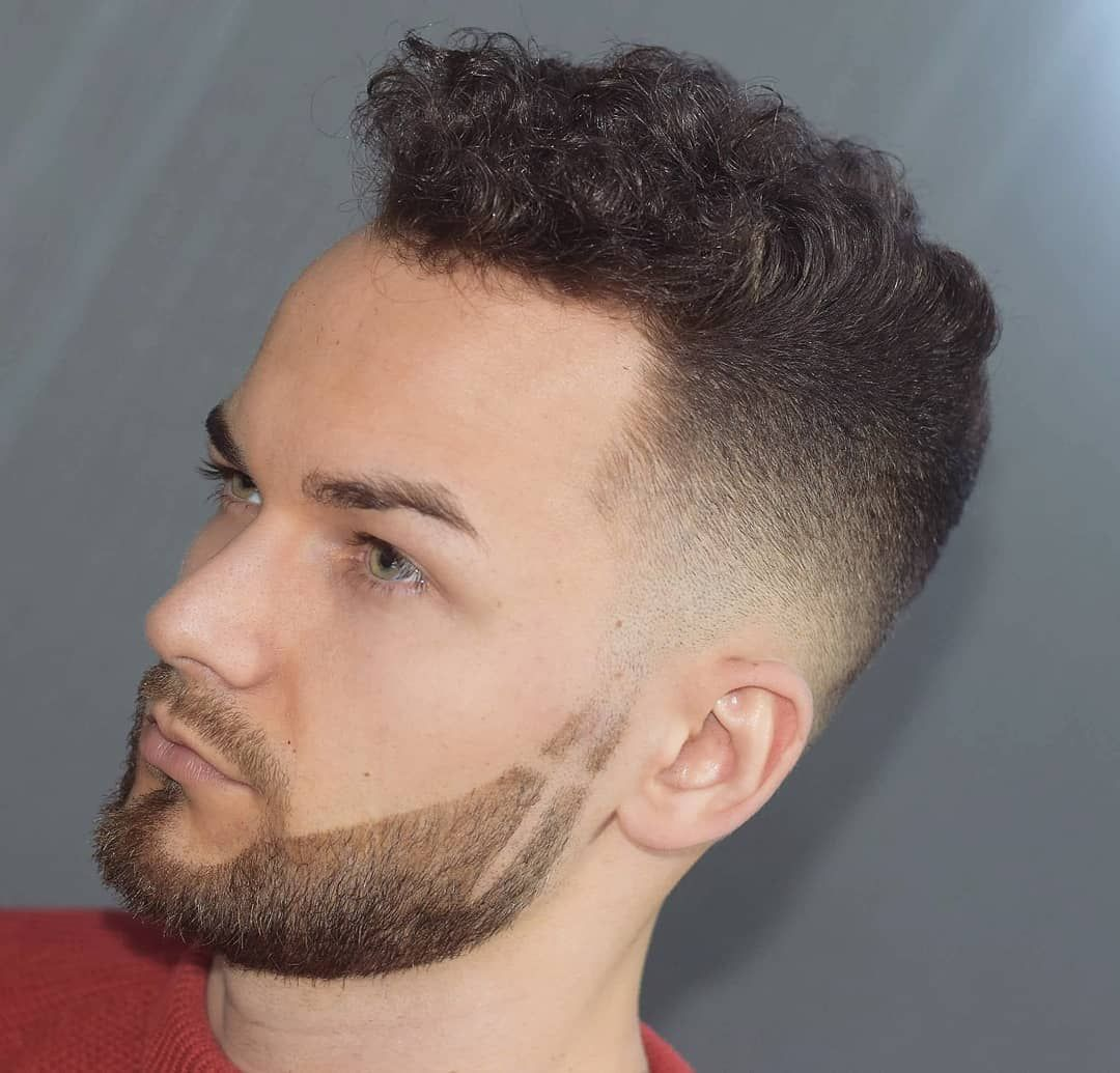 Mens haircuts with beards  simple regular clean cut haircuts for men  curly u wavy hair