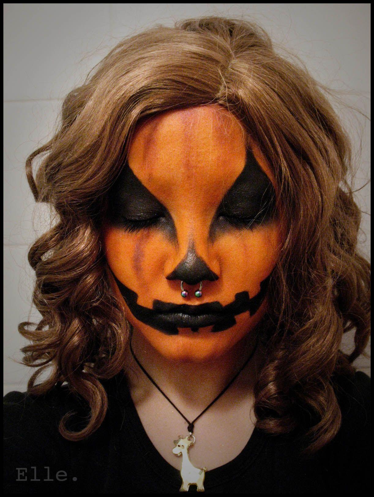 Uncategorized Pumpkin Face Makeup halloween pumpkin face paint painting the people pinterest paint