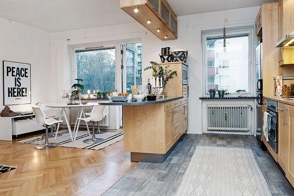 Apartament vechi, design modern două camere în 50 de