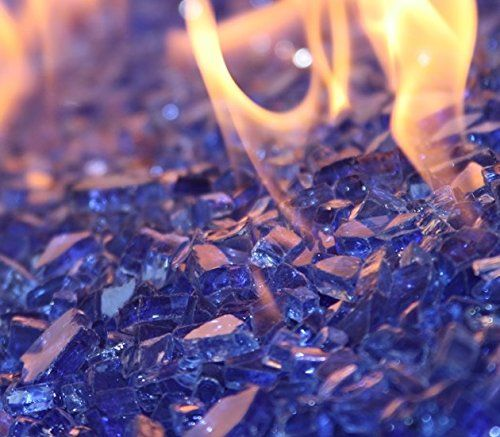 Fireglass 10 Pound Reflective Fire Glass With Fireplace Glass And Fire Pit Glass 1 4 Inch Cobalt Blue Fire Pit Esse Fire Glass Glass Fireplace Glass Fire Pit