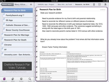 Onenote Research Plan Template  Freebie Via YourfamilystoryCom