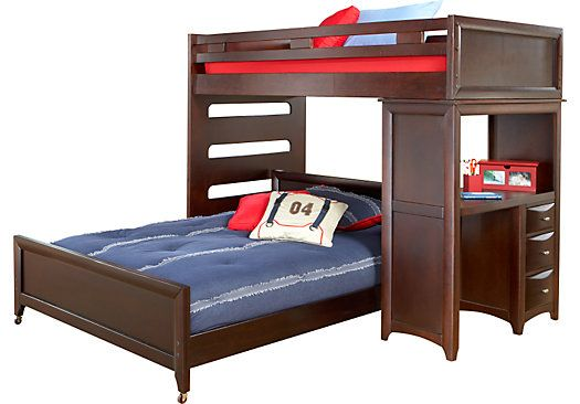 shop for a ivy league twin full student loft w desk at rooms to go kids kids bunk bedsloft