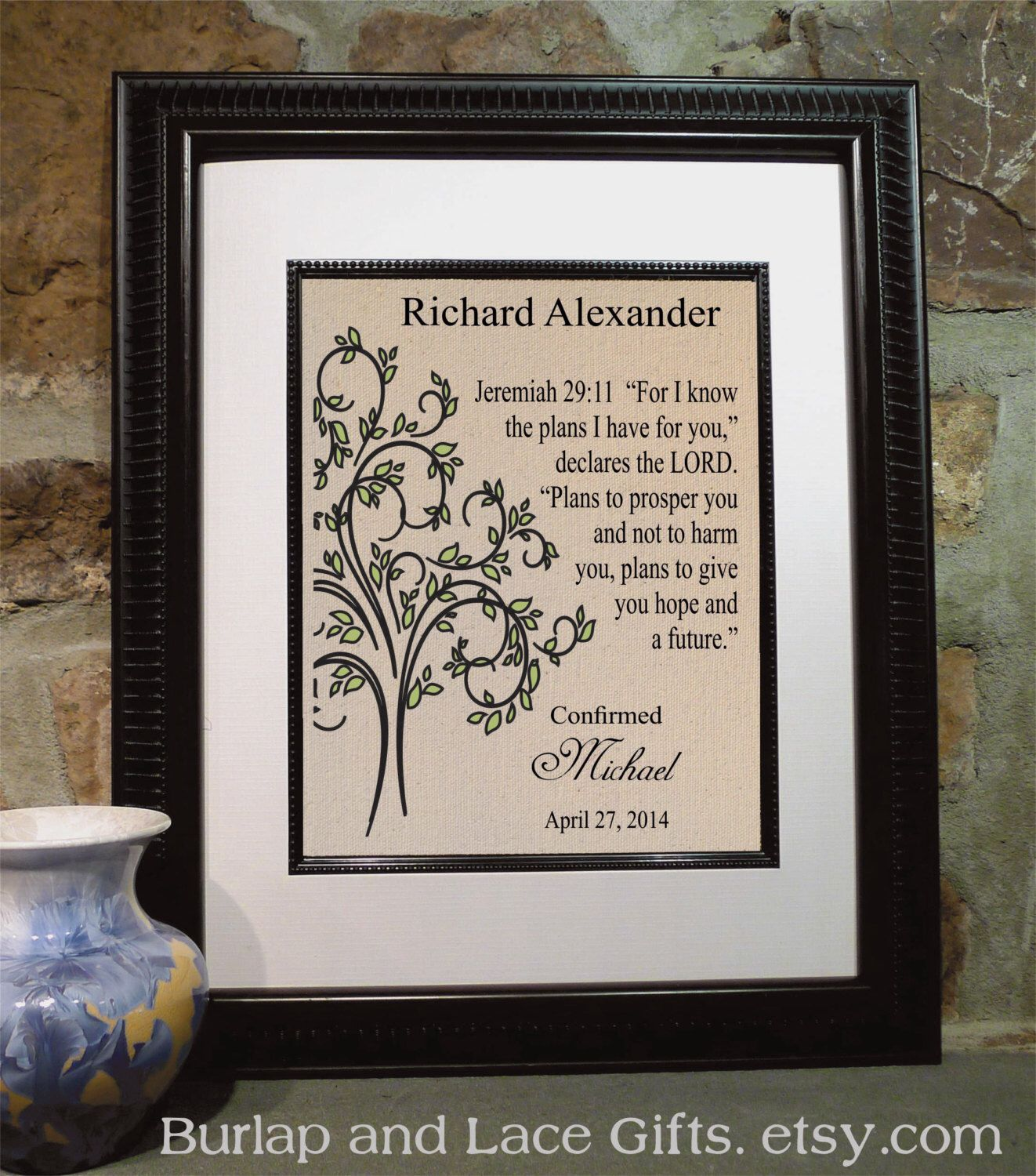 Confirmation gift godsons confirmation boys confirmation items similar to confirmation gift godsons confirmation boys confirmation boys baptism baptism wall art framed bible verse religious on etsy negle Choice Image