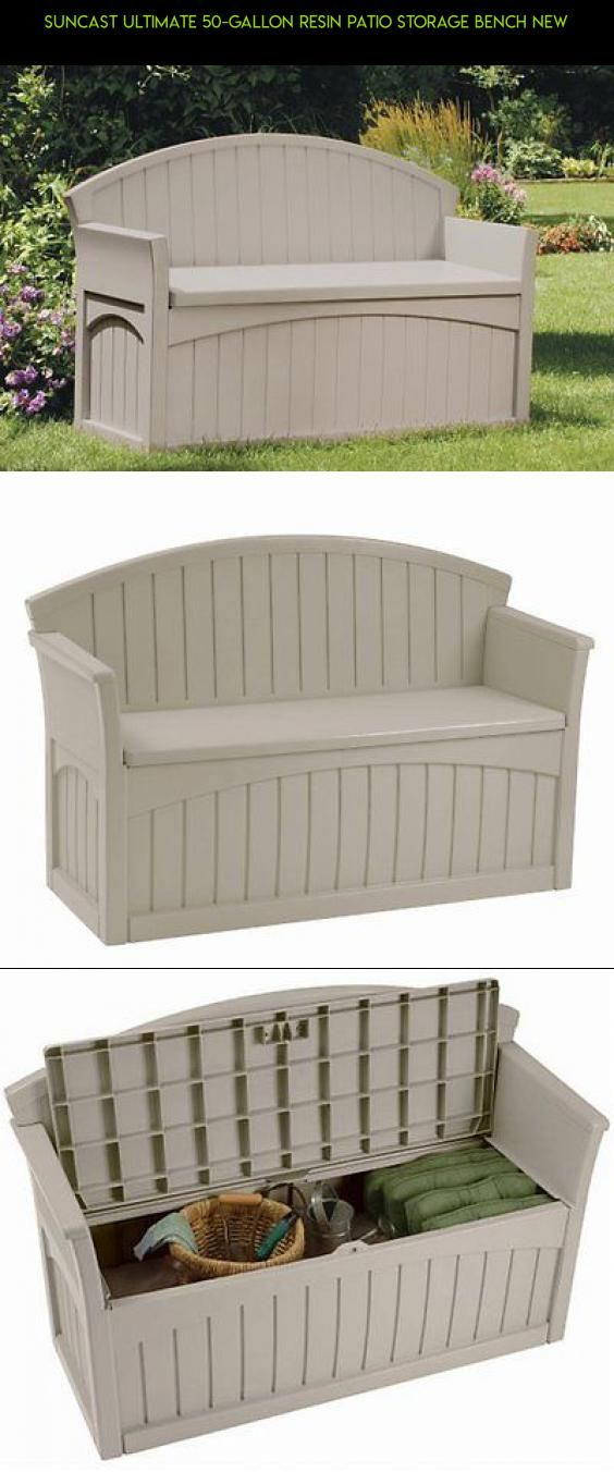 Suncast Ultimate 50 Gallon Resin Patio Storage Bench New Tech Products Gadgets