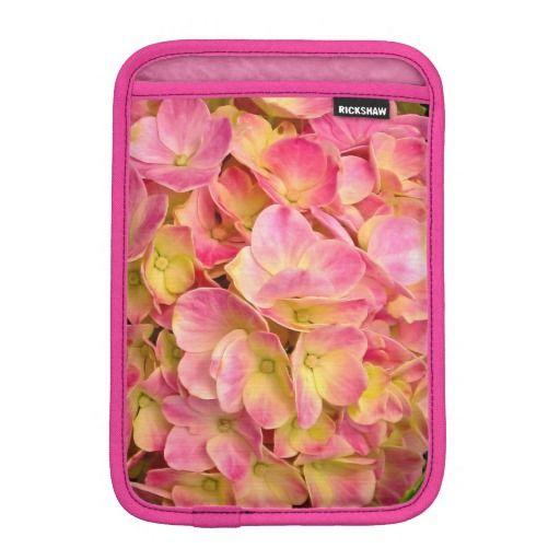 Pink Hydrangea Flowers iPad Mini Sleeve Vertical #zazzle #ipad #sleeves #pink #hydrangea #flowers