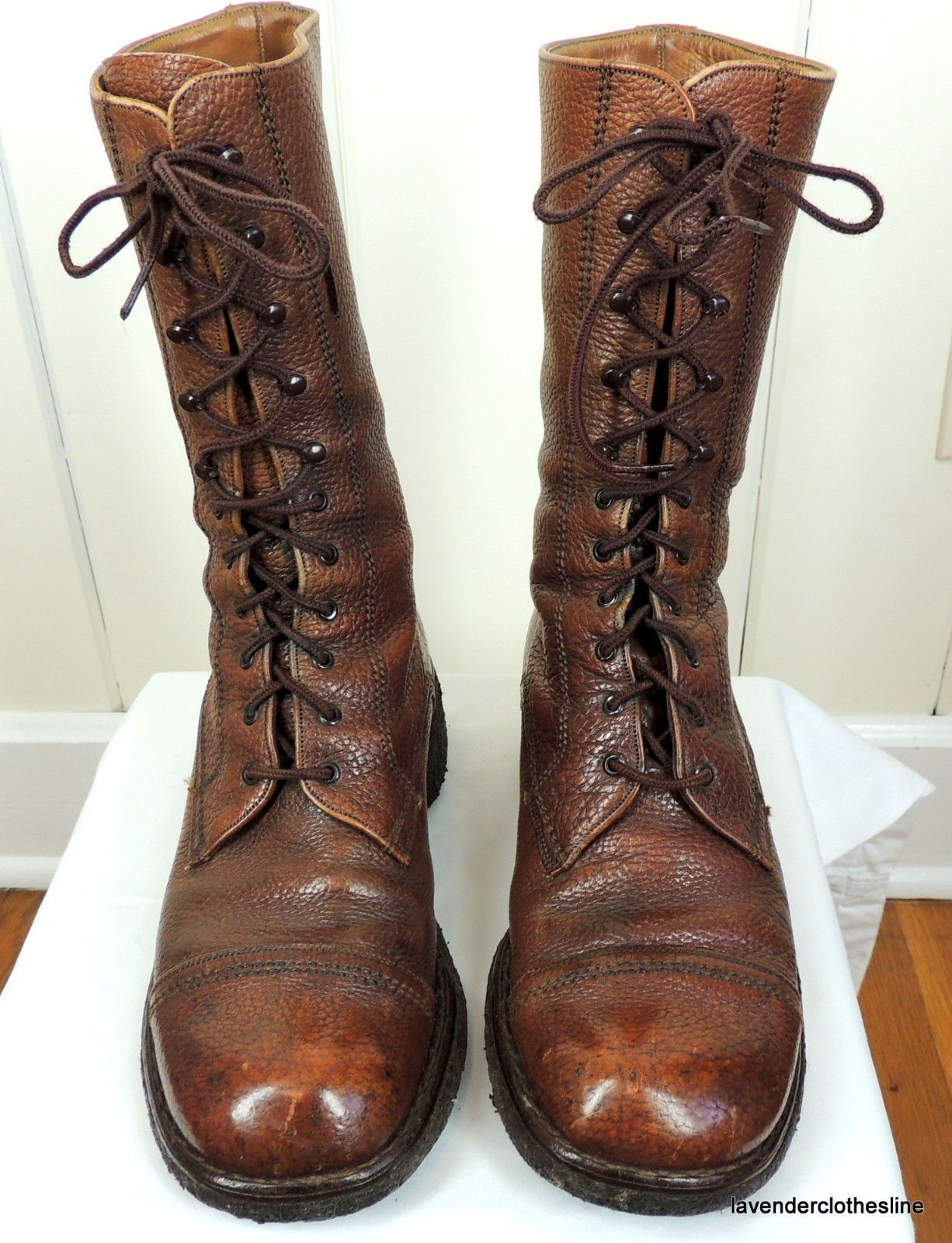 ce555f7e74314 Florsheim Imperial leather boots, mens 7.5. Lace up, 11