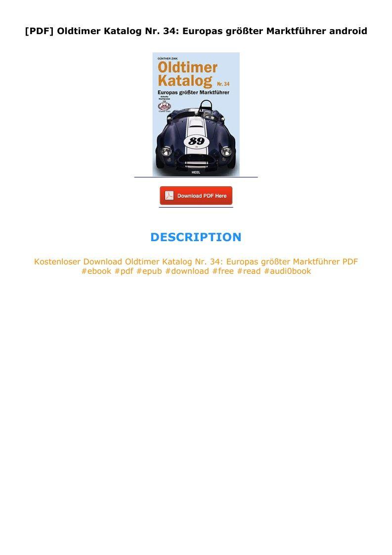 PDF] Oldtimer Katalog Nr. 20 Europas größter Marktführer android ...