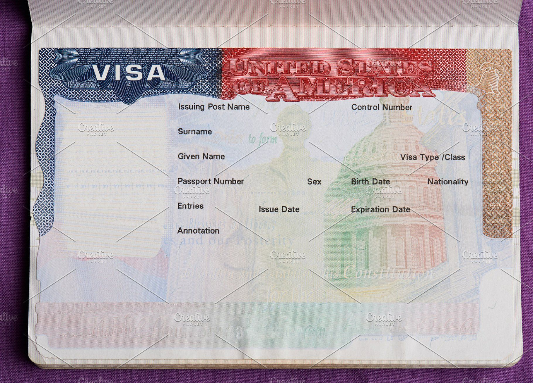 Blank American Visa Business Photos Visa Credit Card Design