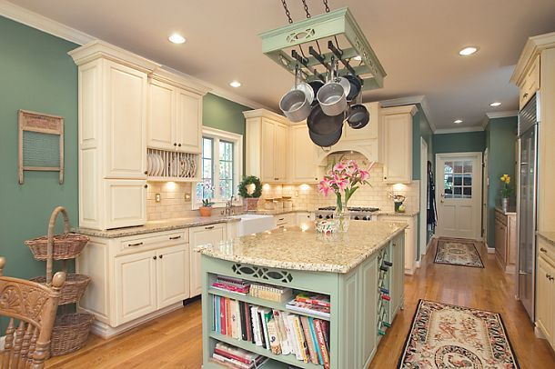 This Country French kitchen remodel is an excellent example of the