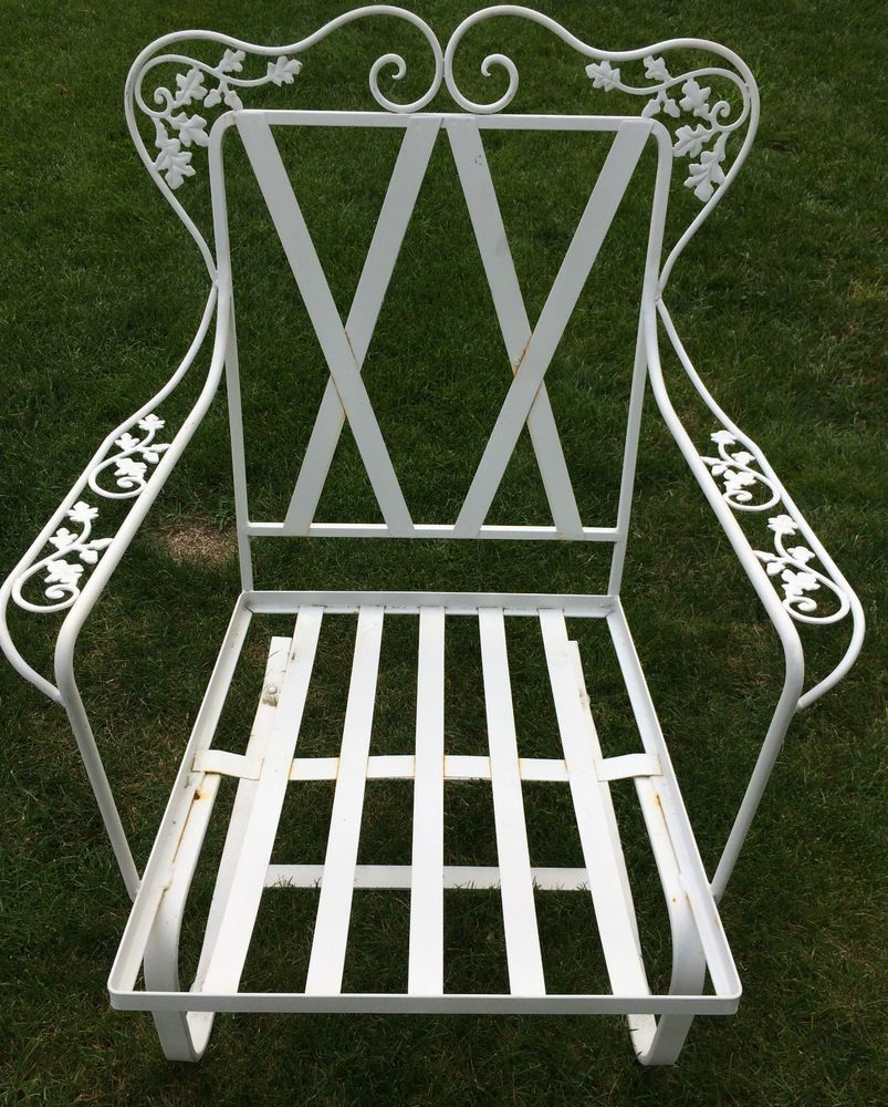 Vintage Woodard Orleans Wrought Iron Patio Furniture Spring