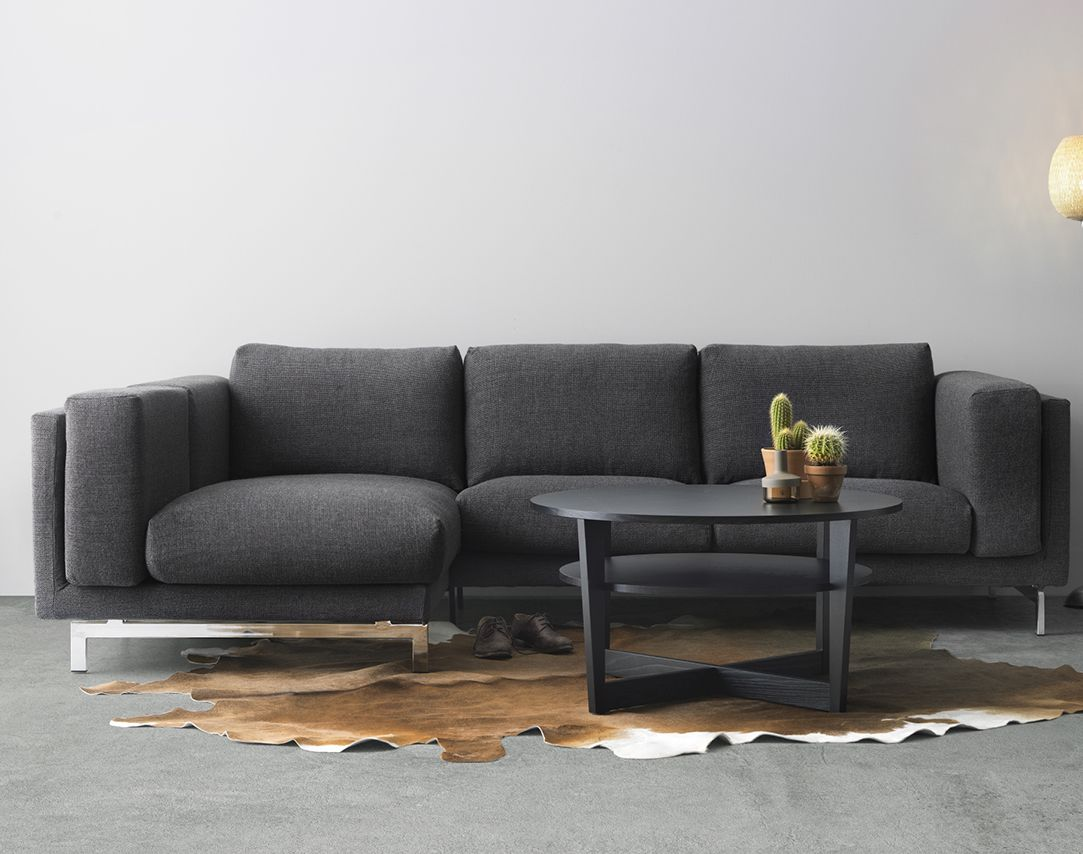 Wohnwand ikea hemnes  IKEA NOCKEBY bank met grijze bekleding | Ikea, Hemnes, expedit etc ...