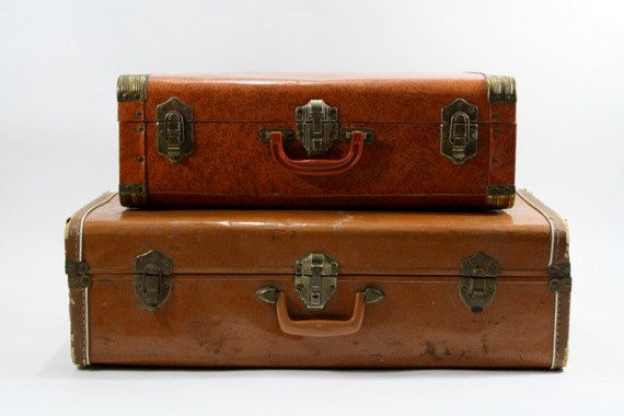 Vintage Suitcase / Vintage Suitcase Stack / Old by HuntandFound ...