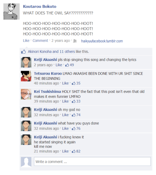 Blast To The Past Bokuto Haikyuu Facebook Haikyuu Haikyuu Funny