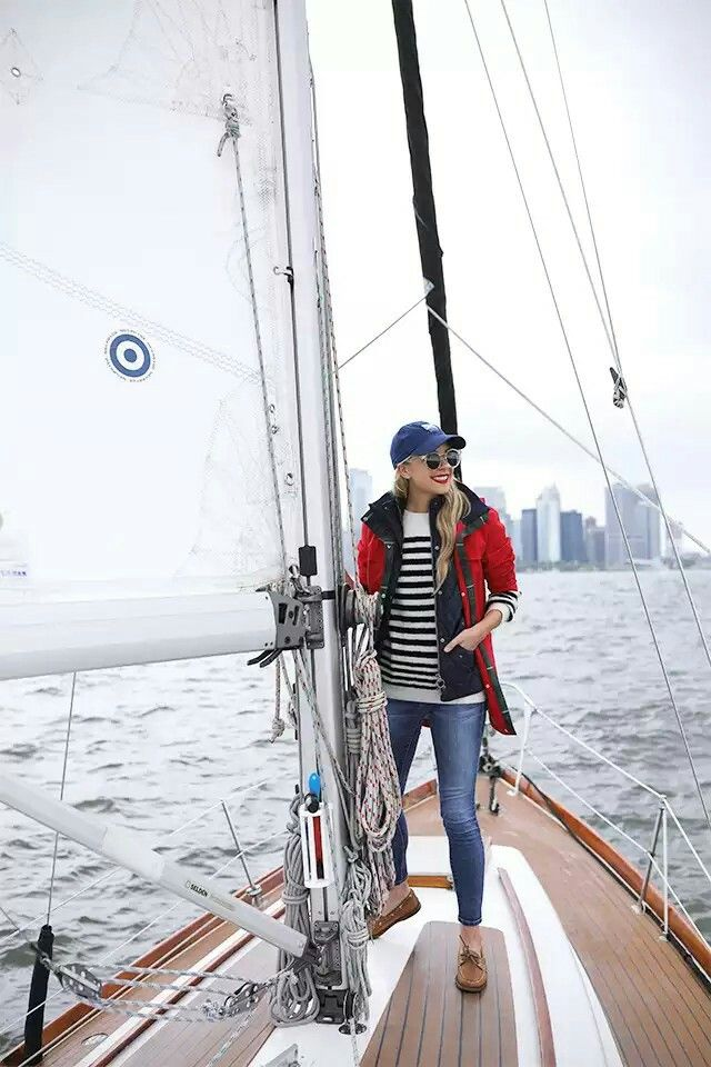 ca2b4153 Atlantic Pacific, Cold Weather Outfits, Winter Outfits, Boating Outfit,  Sailing Outfit,