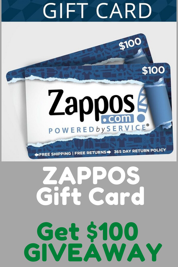 Win 100 Zappos Free Gift Card Giveaway In 2020 Free Gift Cards Gift Card Gift Card Giveaway