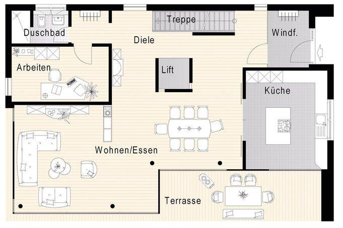Grundriss Haus Modern   Google Suche