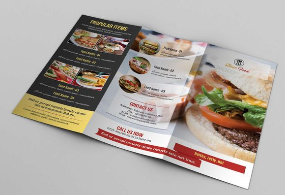 Food Menu Template-V106 Food menu template, Menu templates and - coffee shop brochure template