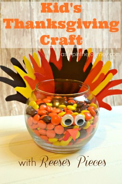 Reese's' Pieces Turkey | A Kid's Thanksgiving Craft