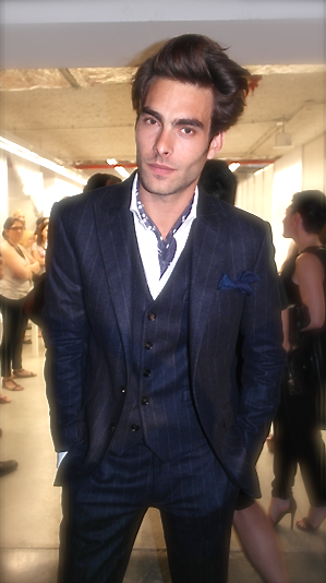 Jon Kortajarena @ MANGO backstage, Fall 2013 @080_bcn_fashion, foto por @gaboibarzabal