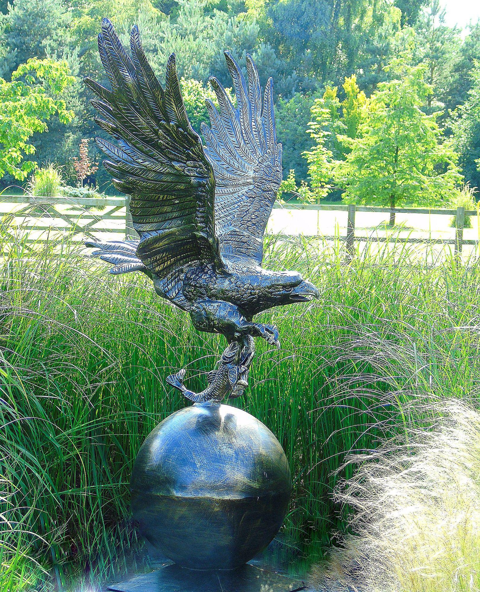 Golden Eagle On Sphere Bronze Statue Metal Garden Sculpture . Buy Now At  Http:/
