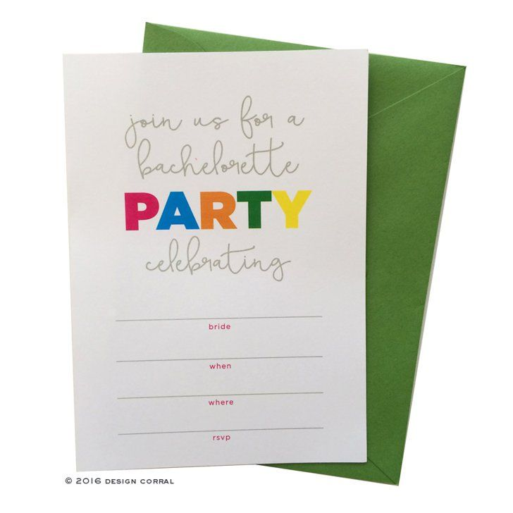 Pin for Later: 24 Free Bachelorette Party Printables Every Bride Will Love Colorful Party Invitation This adorable, colorful party invitation is sure to get the girls excited.