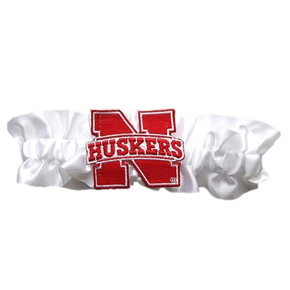 Nebraska Cornhuskers NCAA Satin Garter White