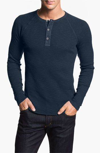 Lucky Brand Waffle Knit Thermal Henley T-Shirt available at #Nordstrom