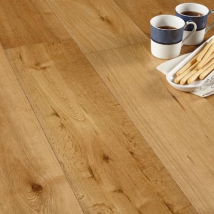 Colours Jazzy Oak Real Wood Top Layer Flooring 144m Pack 45 Per