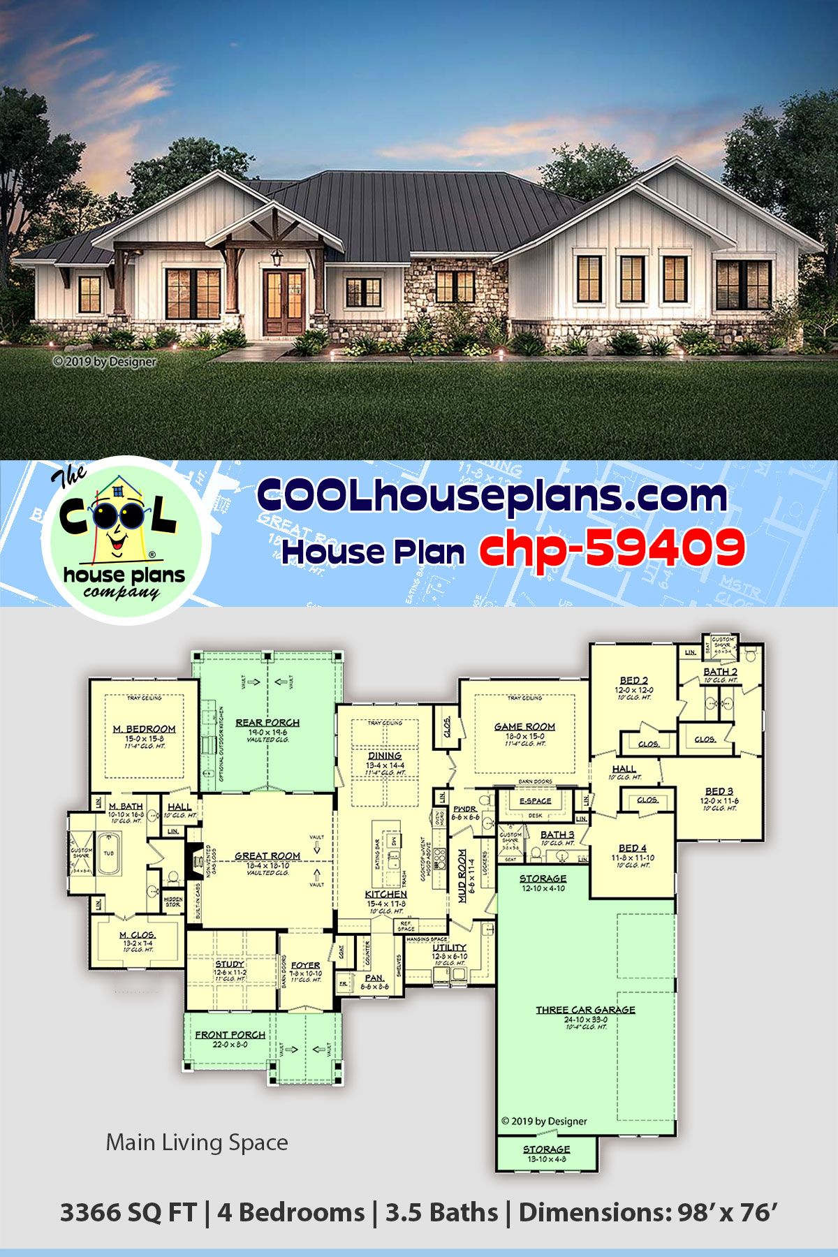 Large Ranch Style Home Floor Plans