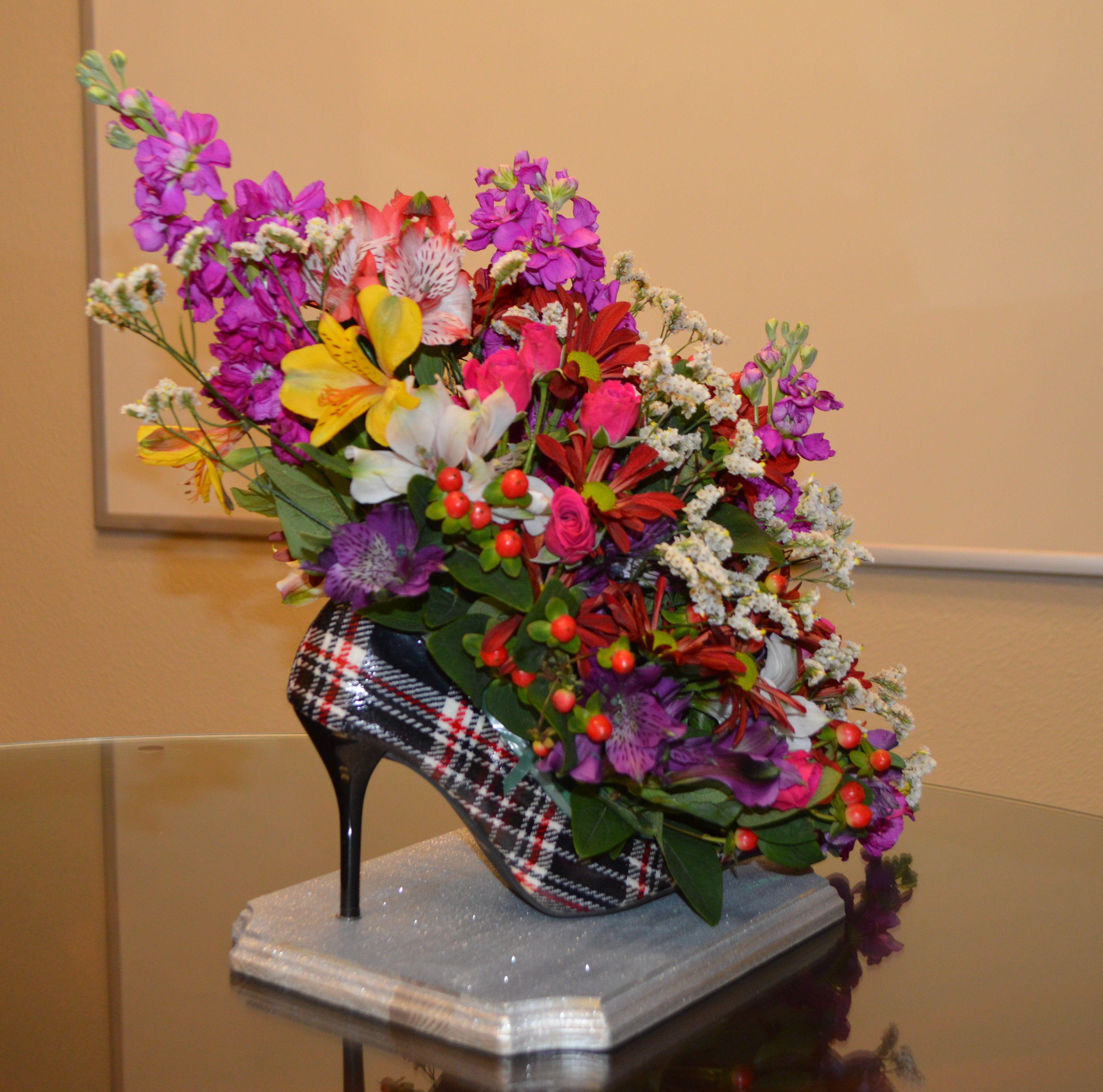 Fresh Flower Arrangement Design Inside A Gorgeous High