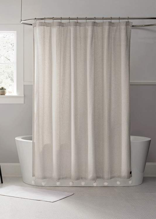 Ugg Oatmeal Toro Shower Curtain Cream Shower Curtains Neutral