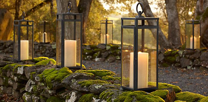 Restoration Hardware Santorini and Amalfi Lanterns. Have to get the flameless candles too! & RHu0027s Lanterns:Choose from a variety of outdoor accessories for ... azcodes.com