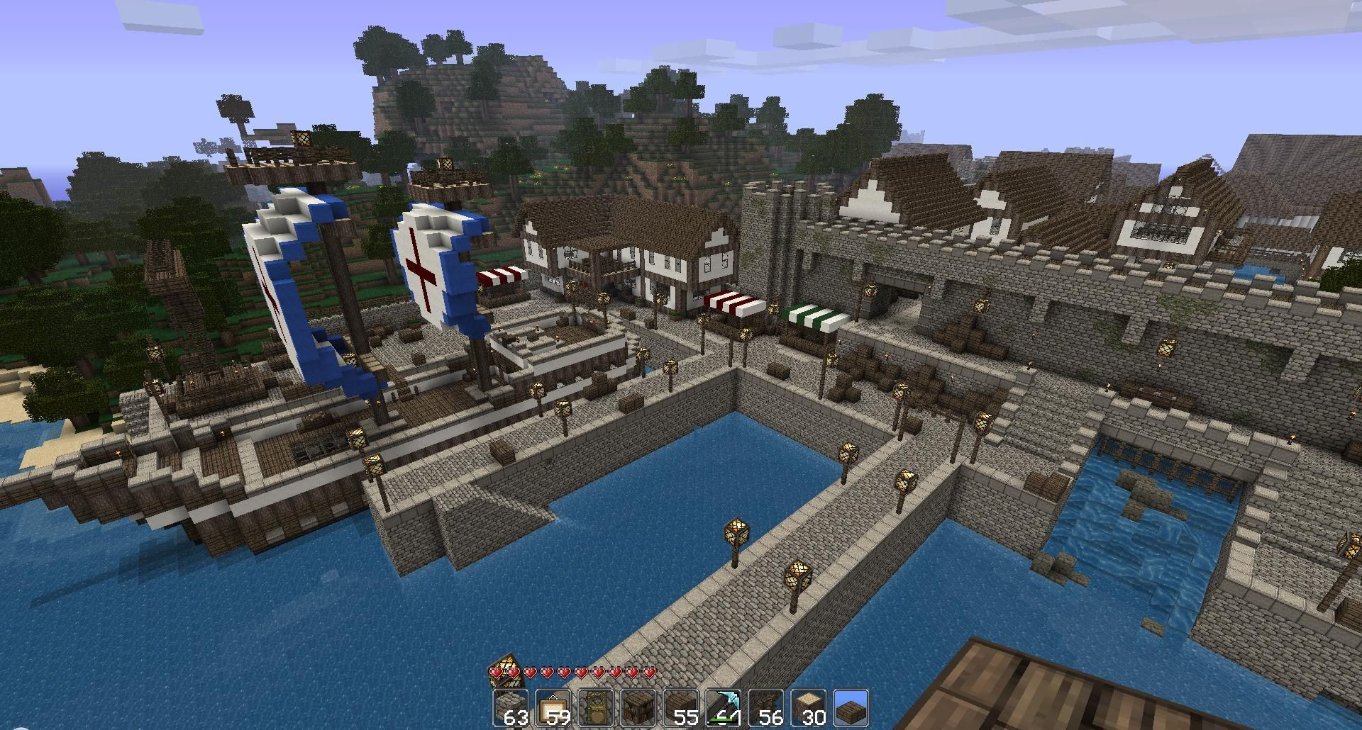 minecraft dock house - google search | minecraft building ideas