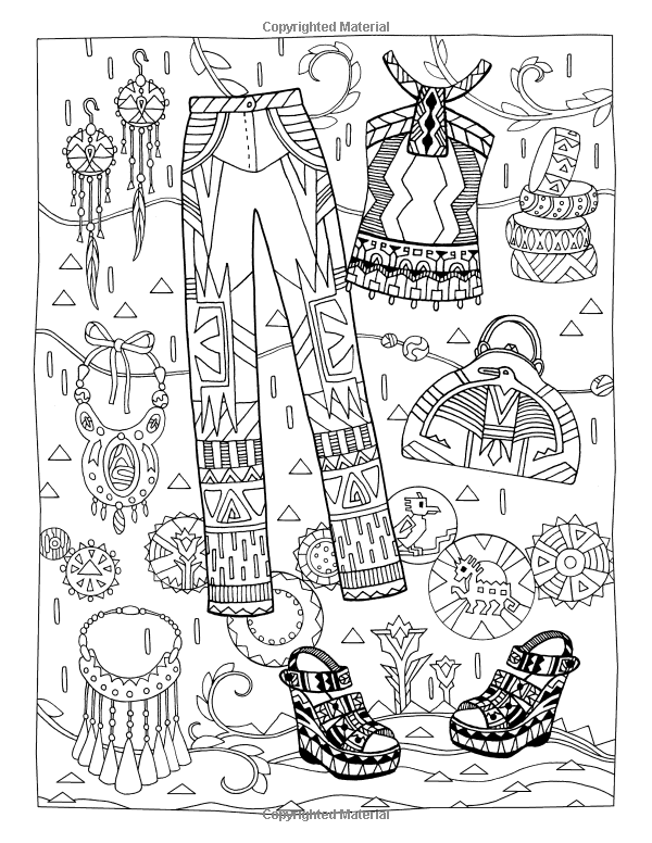Fanciful Fashions Coloring Book Marjorie Sarnat 9780983740445