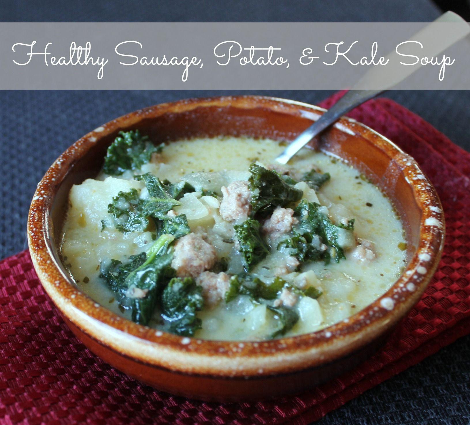 sausage potato and kale soup copycat zuppa toscana olive garden recipe - Olive Garden Kale Soup