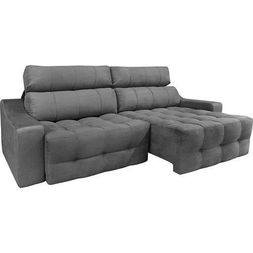 Surprising Sofa Retratil 4 Lugares Cinza Ideias Tattoo Casa Dos Pdpeps Interior Chair Design Pdpepsorg