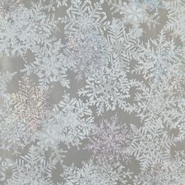 The Container Store > Prismatic Silver Snowflakes Gift Wrap