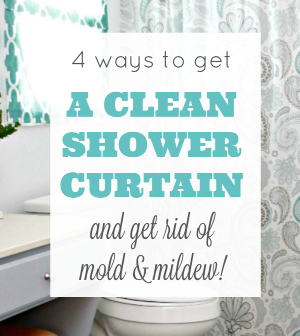 Ways To Get A Clean Shower Curtain Pinterest Clean Shower - Best way to remove mold and mildew from shower
