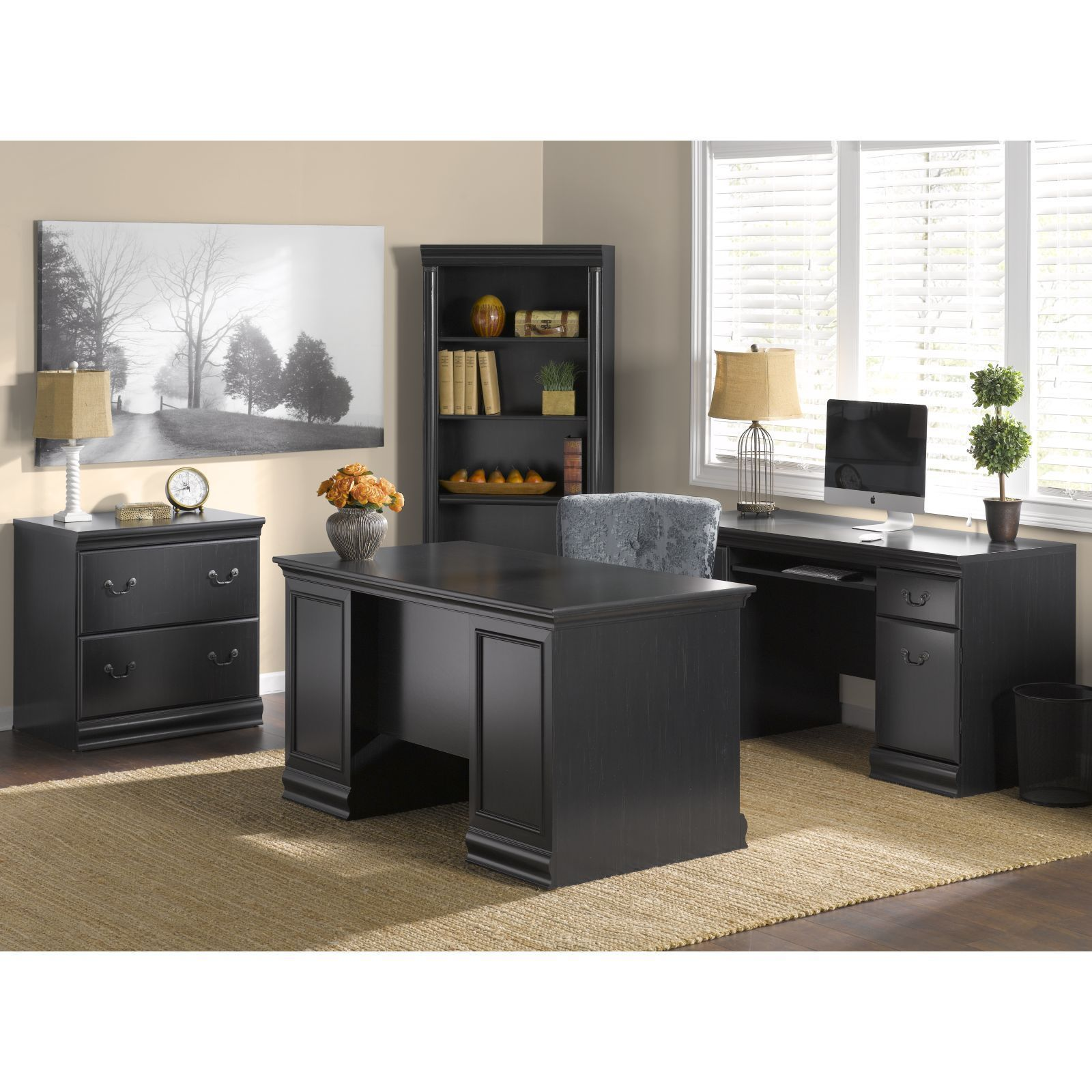 along furniture storage particular depot wood melamine black wheaton ideas shaped lummy sauder with desks desk h bush consruction stand home fashionable l free staples sleek ar office zq and engineered computer
