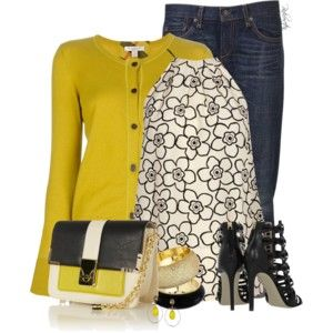 """Woman's fashion """"Boyfriend Jeans & heel"""
