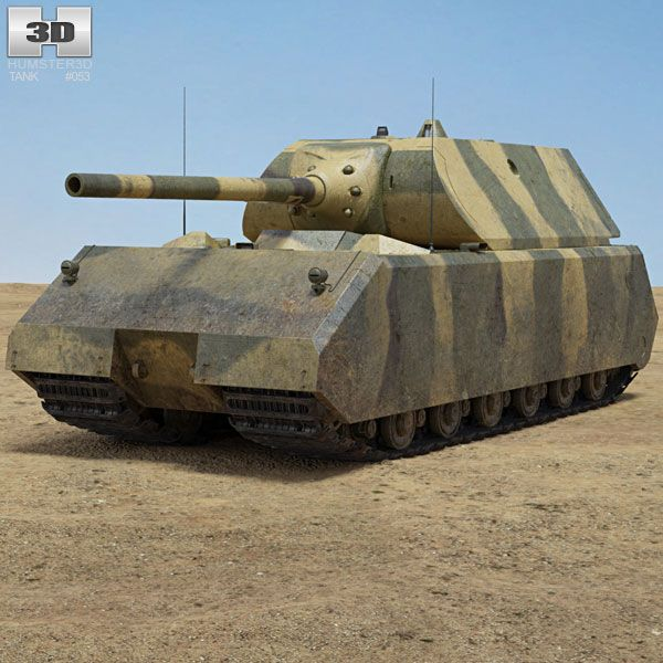 3d Model Of Panzer Viii Maus Tanks Military Military Vehicles Army Vehicles