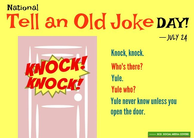Banners National Tell An Old Joke Day July 24 Jokes Day Banner